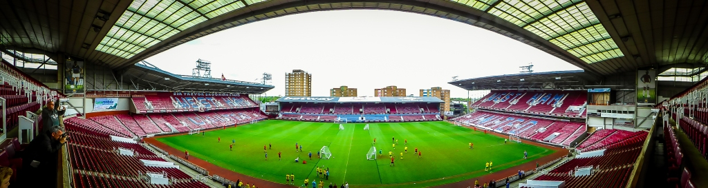Panoramic view of the pitch, Boleyn Ground